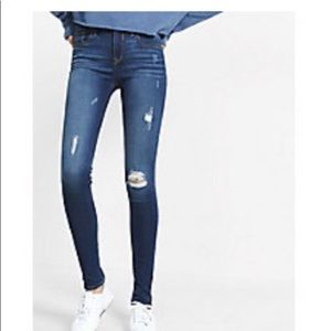 Express ripped ankle jeans